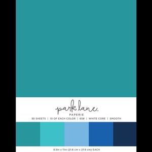 NEW 50 Count (8.5in x 11in),Teal Cardstock